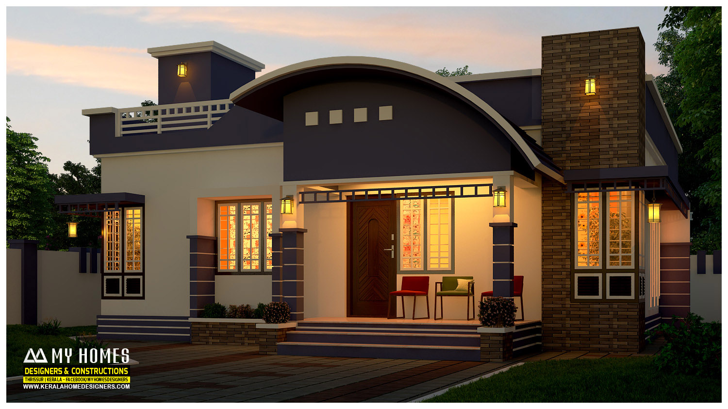 Low budget kerala home designers constructions company for Low cost home design