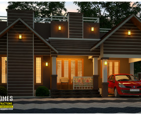 3 bedroom 950 sq ft low budget homes in kerala india