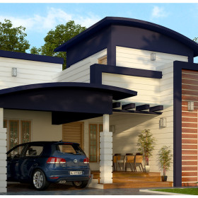 1430 sq ft low budget house design in kerala