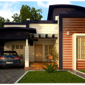 Kerala homes designs and plans photos website kerala india for Low cost house plans with estimate