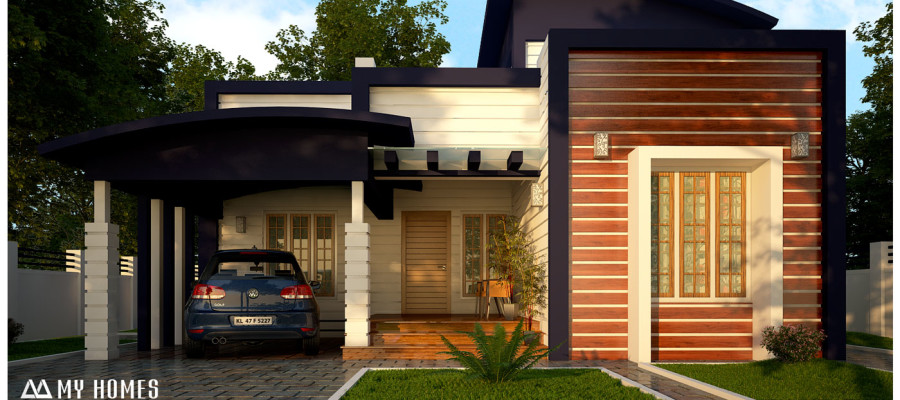 Contemporary style low cost kerala house plans and designs