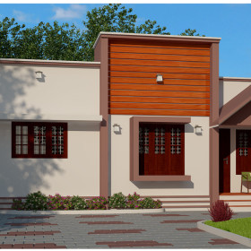 beautiful low cost modern 2 bhk house in kerala