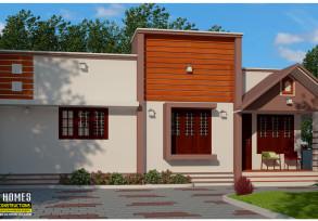 beautiful low cost modern 2 bhk house in kerala