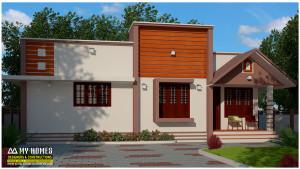 modern 2 bhk house in kerala