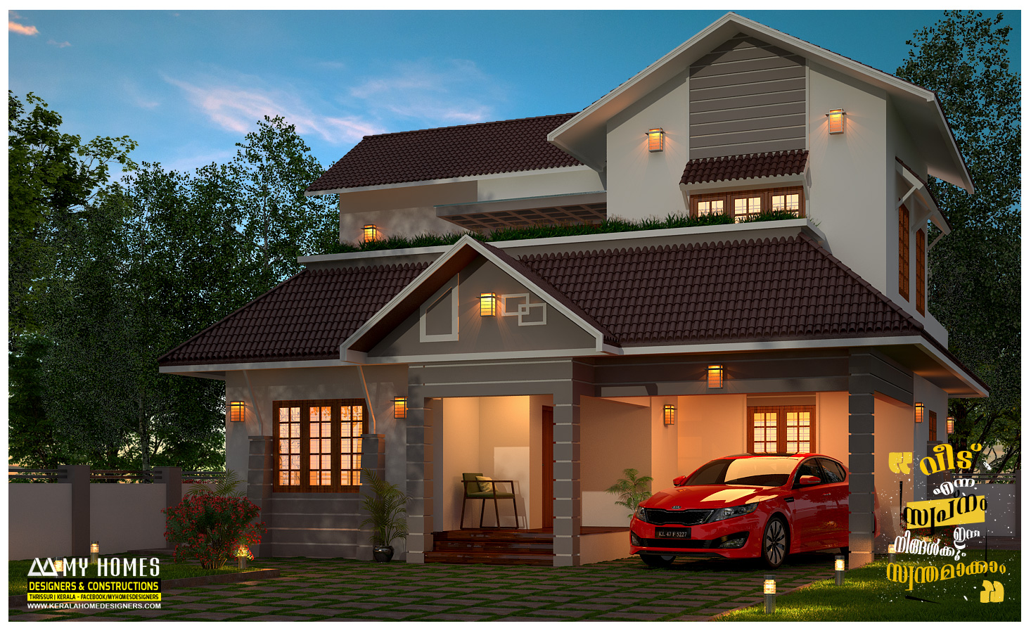 Budget Friendly 1645 Sq Ft Kerala Home Design And Plan