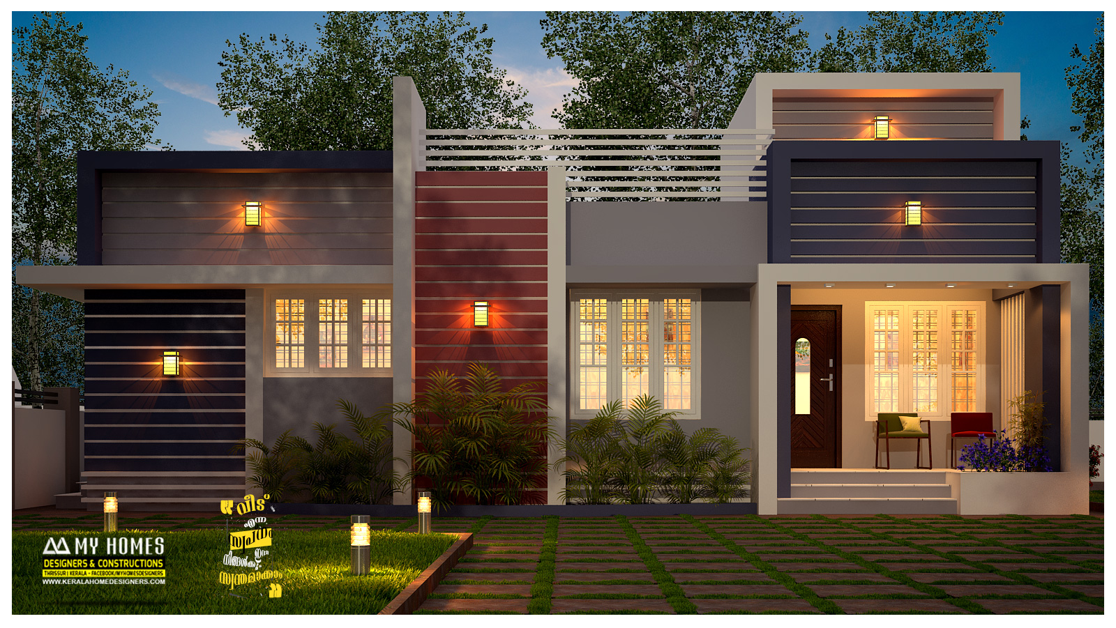Below 1000 sqft low cost home design kerala for Tavoli design low cost