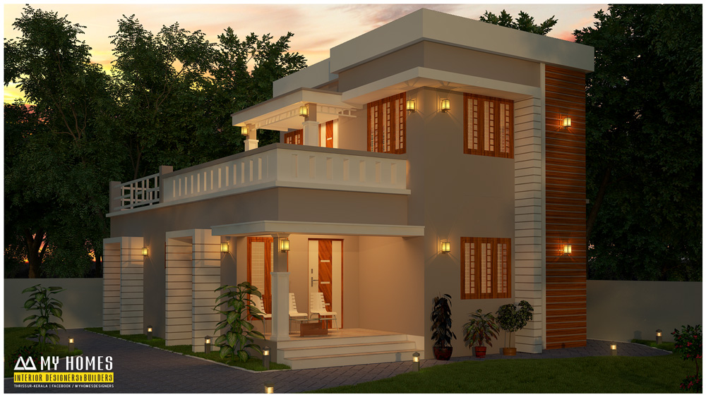 low budget home kerala - 28+ Front Design Of House In Small Budget  Background