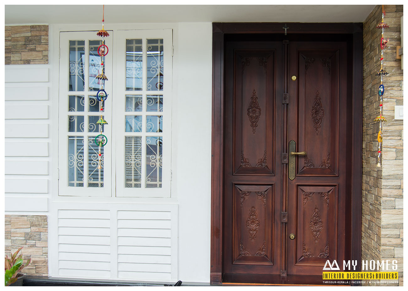 front wood door design kerala