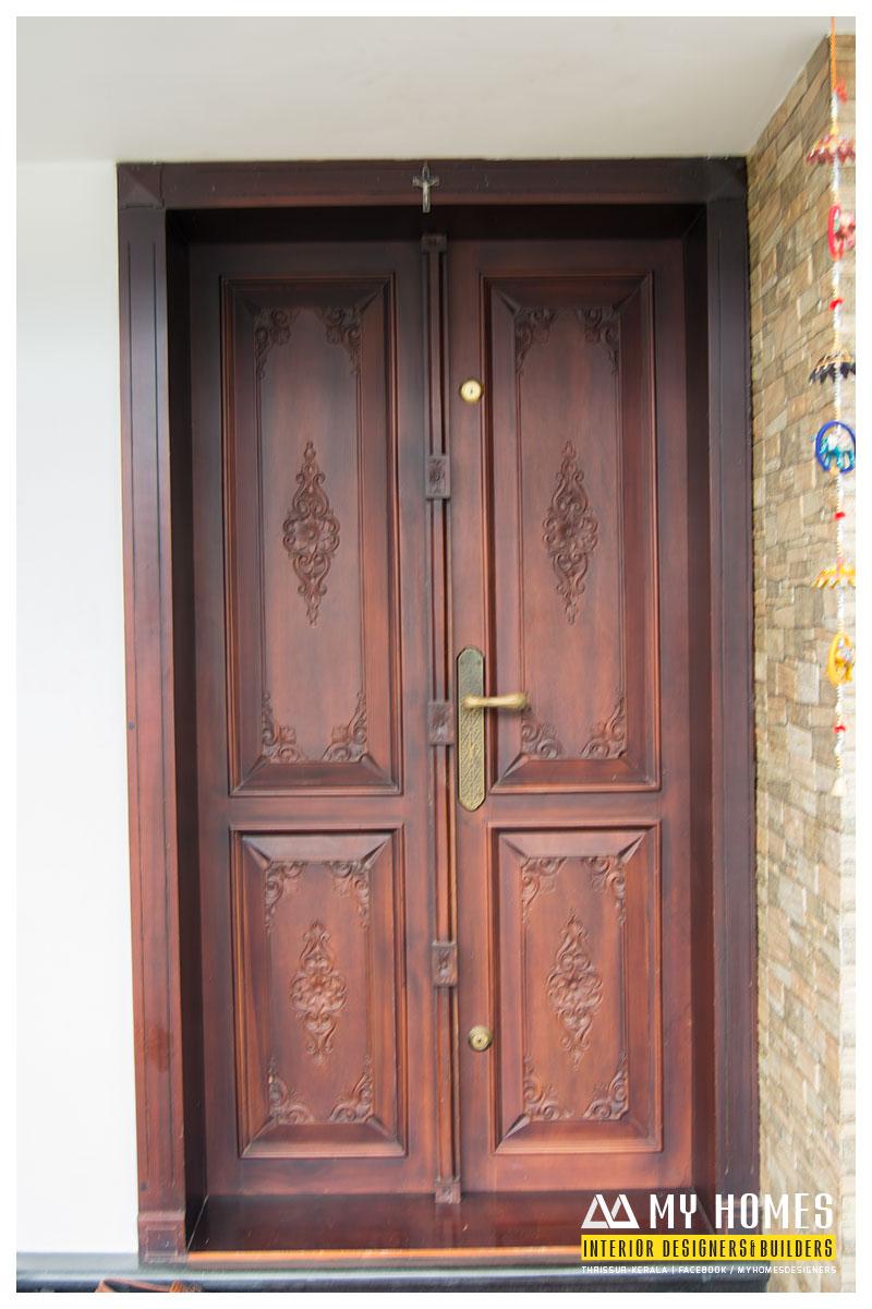 front wooden door designs kerala