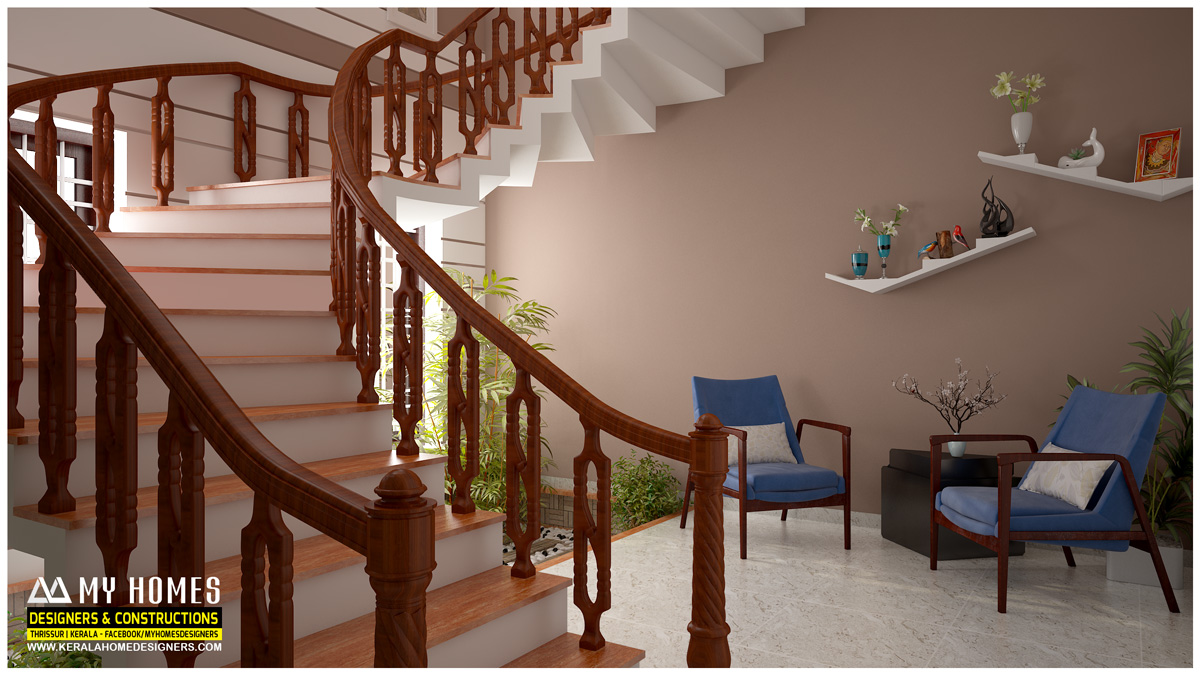 Interior Decorating Deas For Staircase Designs In Kerala