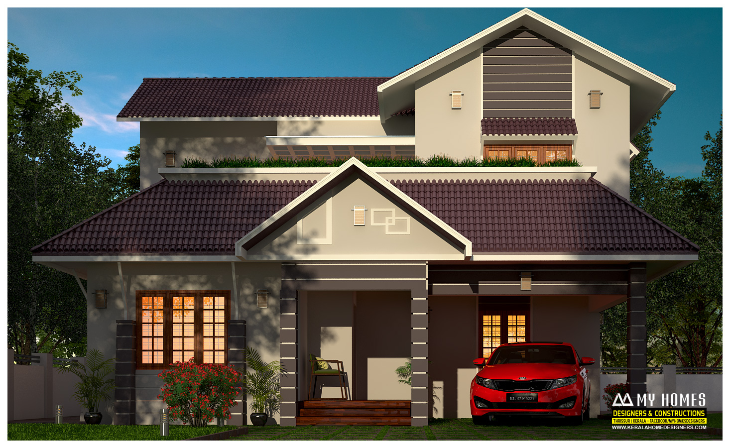 new house design kerala